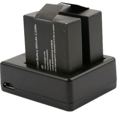Зарядное устройство на 2 аккумулятора экшн камеры GITUP