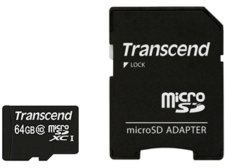 Карта памяти 64Gb Micro SDXC Class 10 Transcend UHS-I