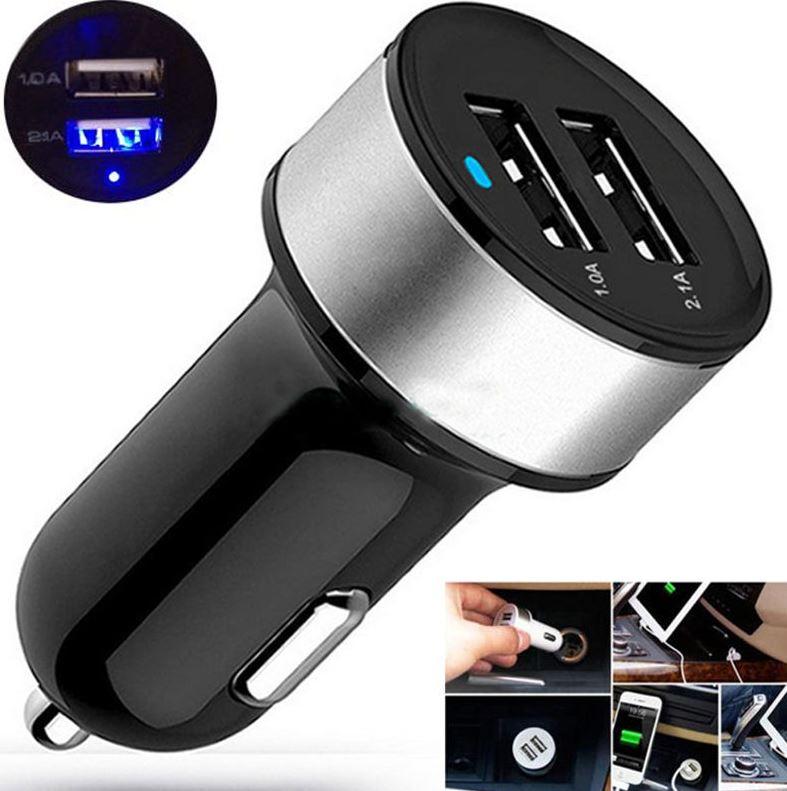 Прикуриватель USB переходник зарядки для автомобиля с двумя USB выходами