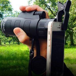 Объектив 35 x 50 zoom + крепление на смартфон